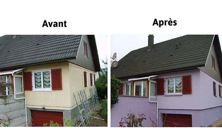 Isolation thermique extérieure des façades et du soubassement sur maison ossature bois garantie STO 10 ans - HOME ENERGIE CONCEPT
