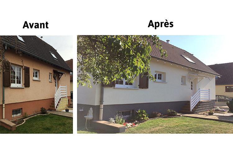 Ravalement armé des façades et du soubassement finition D3 STOLIT garantie STO 10 ans , traitement des boiseries - HOME ENERGIE CONCEPT