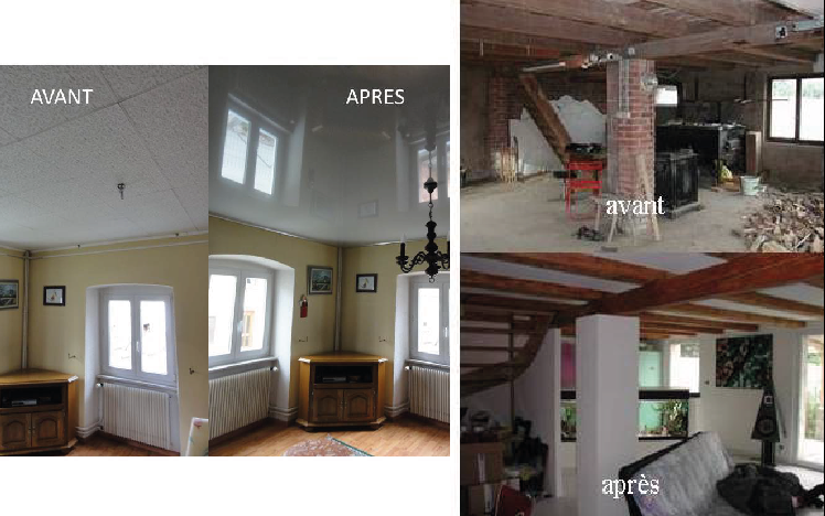 Plafond tendu / Transformation - ALSARENOV'