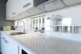 plan de travail de cuisine en verre - 123Habitat